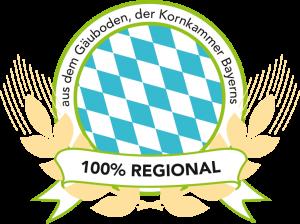 Siegel 100% regional aus dem Gäuboden, der Kornkammer Bayerns